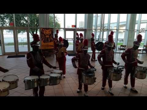 Raines high school drumline live performance 2017