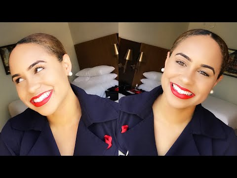 EVERYDAY Work/Office Makeup | Flight Attendant Edition