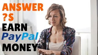 Here are 9 websites where you can make money online via paypal by answering questions. go to https://selfmadesuccess.com/paid-answer-questions/ for video not...