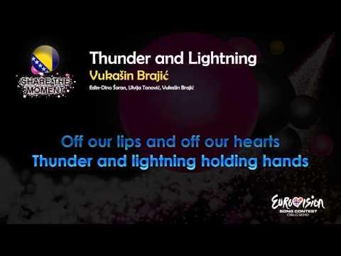 """Vukašin Brajić - """"Tunder And Lightning"""" (Bosnia & Herzegovina"""" - [Karaoke version]"""