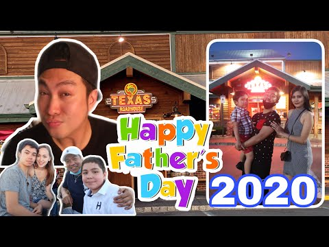 FATHER'S DAY CELEBRATION 2020 | TEXAS ROAD HOUSE OUTDOOR SITTING #texasRoadHouse #FathersDay2020