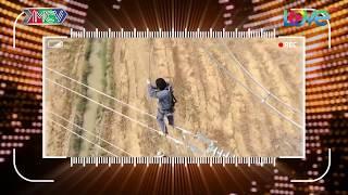 Sốc với cách bước đi trên dây điện cao thế của thợ chuyên sửa dây điện.