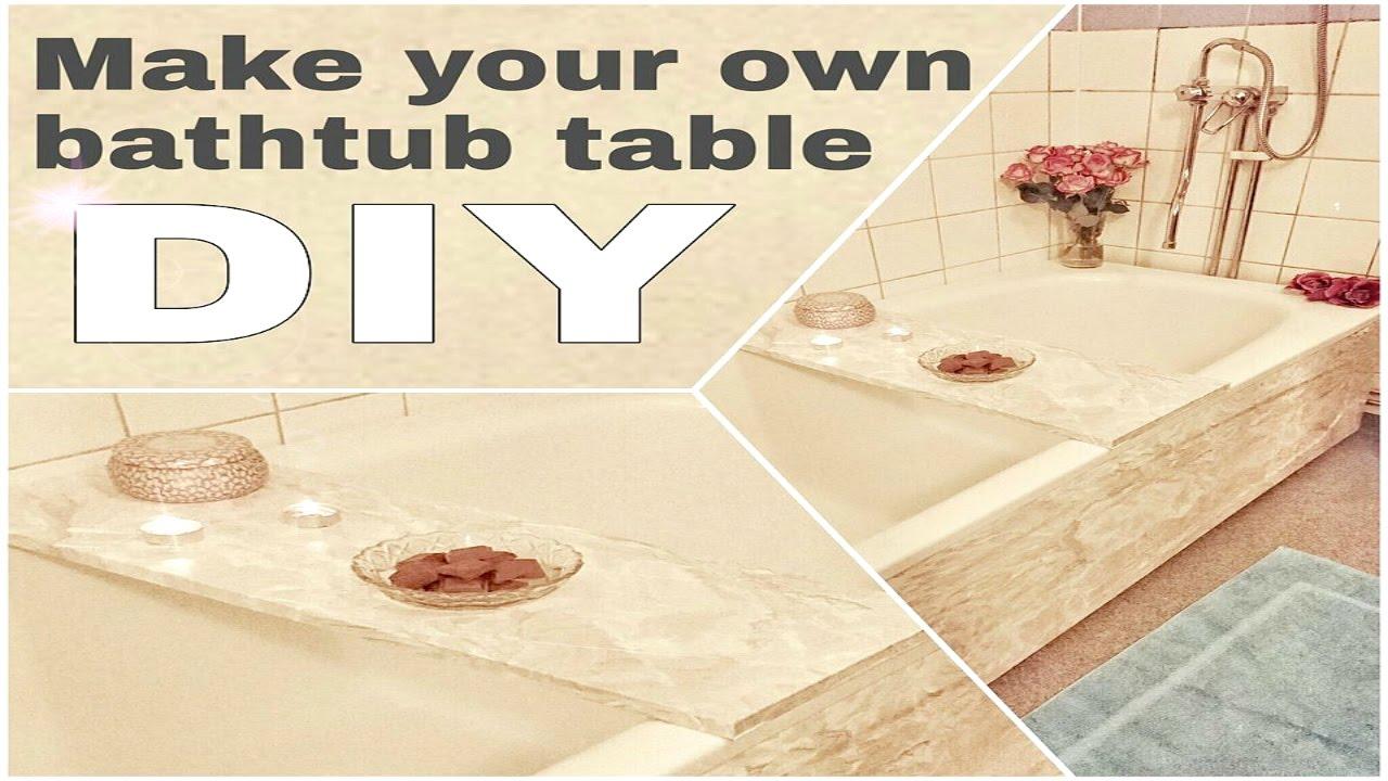 Bathtub table - Decor - How to - DIY - YouTube
