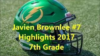 Class of 2023 ATH Javien Brownlee 2017 Football Highlights