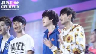 "[JustGyuhyun]130127 Recording of GDTV""Challenger"" - Singing part"