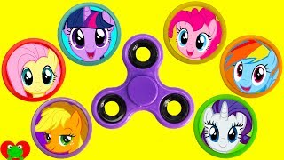 My Little Pony Fidget Spinner Game LEARN Colors
