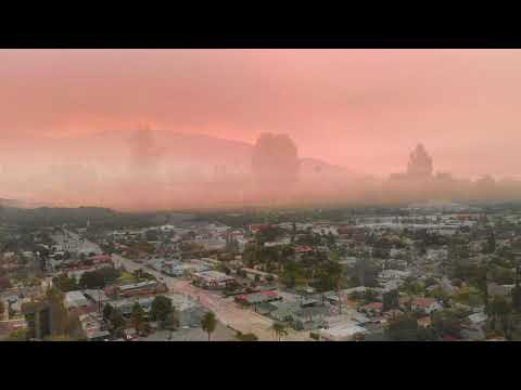 Bobcat Fire creates beautiful sky in Monrovia, CA - 9/7/20 mid-morning