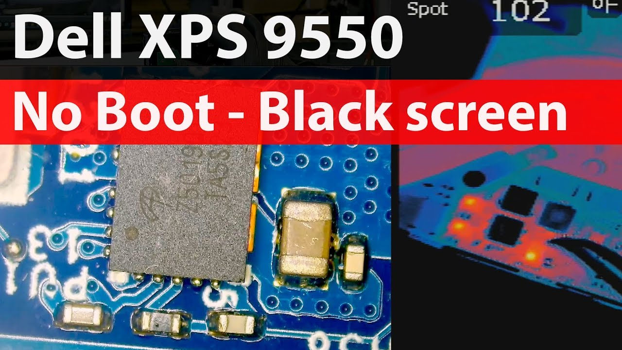 Dell XPS 9550 Not Turning on - No Boot Black Screen Repair