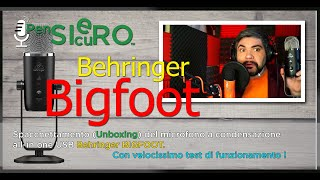Spacchettando ( #Unboxing ) il #Behringer #Bigfoot