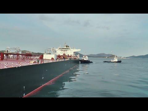 """TAMARA"" Crude Oil Tanker: Accompanied by tugs in Pachi; Megara!"
