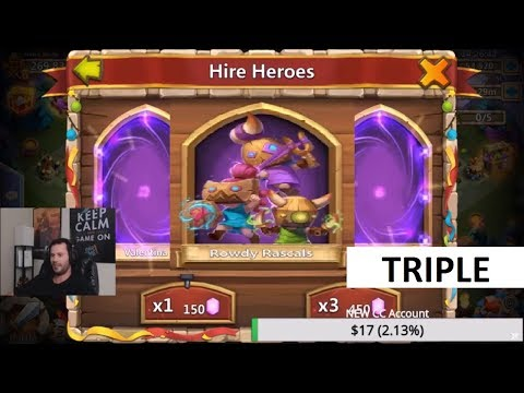 Triple Legend Roll BEST ROLL During Hero Collector INSANE Castle Clash