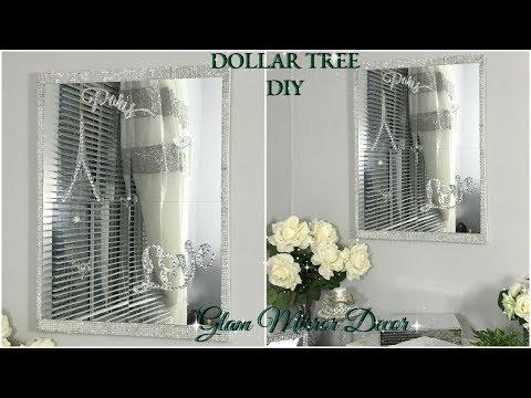 DOLLAR TREE DIY | QUICK AND EASY MIRROR WALL DECOR | DIY HOME DECOR IDEAS