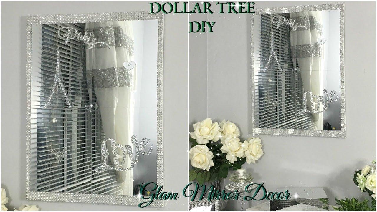 DOLLAR TREE DIY | QUICK AND EASY MIRROR WALL DECOR | DIY ...