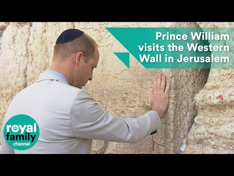 Prince William visits the Western Wall in Jerusalem