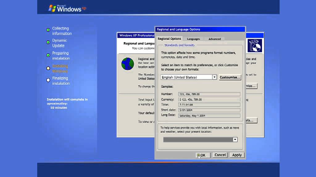 How to install windows xp professional: 14 steps.