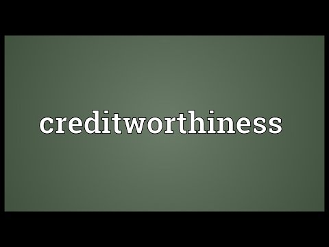 Creditworthiness Meaning