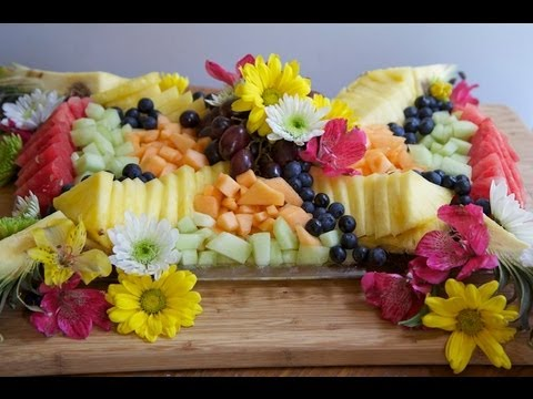 ☀ How to Make A Beautiful Fruit Tray ~Brunch Fruit Platter! - YouTube