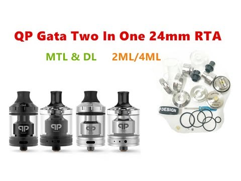 QP Style Gata Two In One 24mm RTA Vape Tank Atomizer By Wejoytech