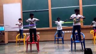 Hula hoop dance by IIT kanpur kids