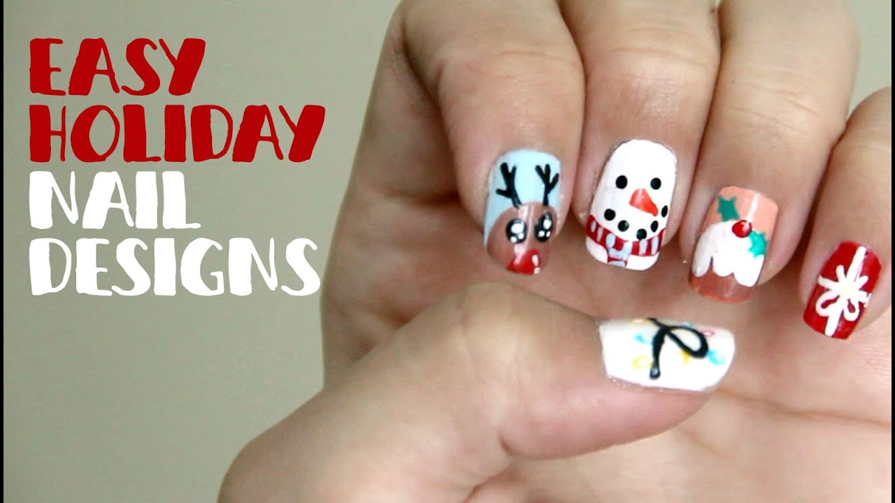 easy holiday nail design