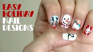 Easy Holiday Nail Designs