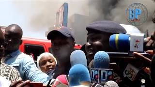 Le Lieutenant Colonel Diatta des sapeurs pompiers s'exprime sur l'incendie à l'immeuble ScrupulDos