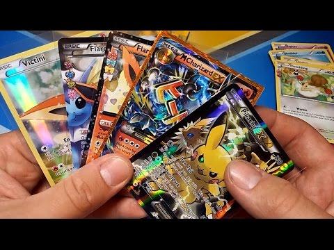 The Best Pikachu Ex Box Victini Box Opening Ever Mega Charizard Pull Pokemon Unwrapped