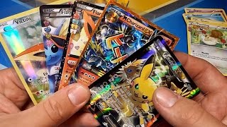 THE BEST PIKACHU EX BOX & VICTINI BOX OPENING EVER!!! MEGA CHARIZARD PULL! POKEMON UNWRAPPED