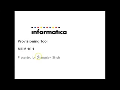 Introduction to Provisioning Tool MDM version 10.1