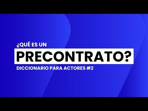 ¿Qué es un PRECONTRATO?    📖🎬 DICCIONARIO para ACTORES #2