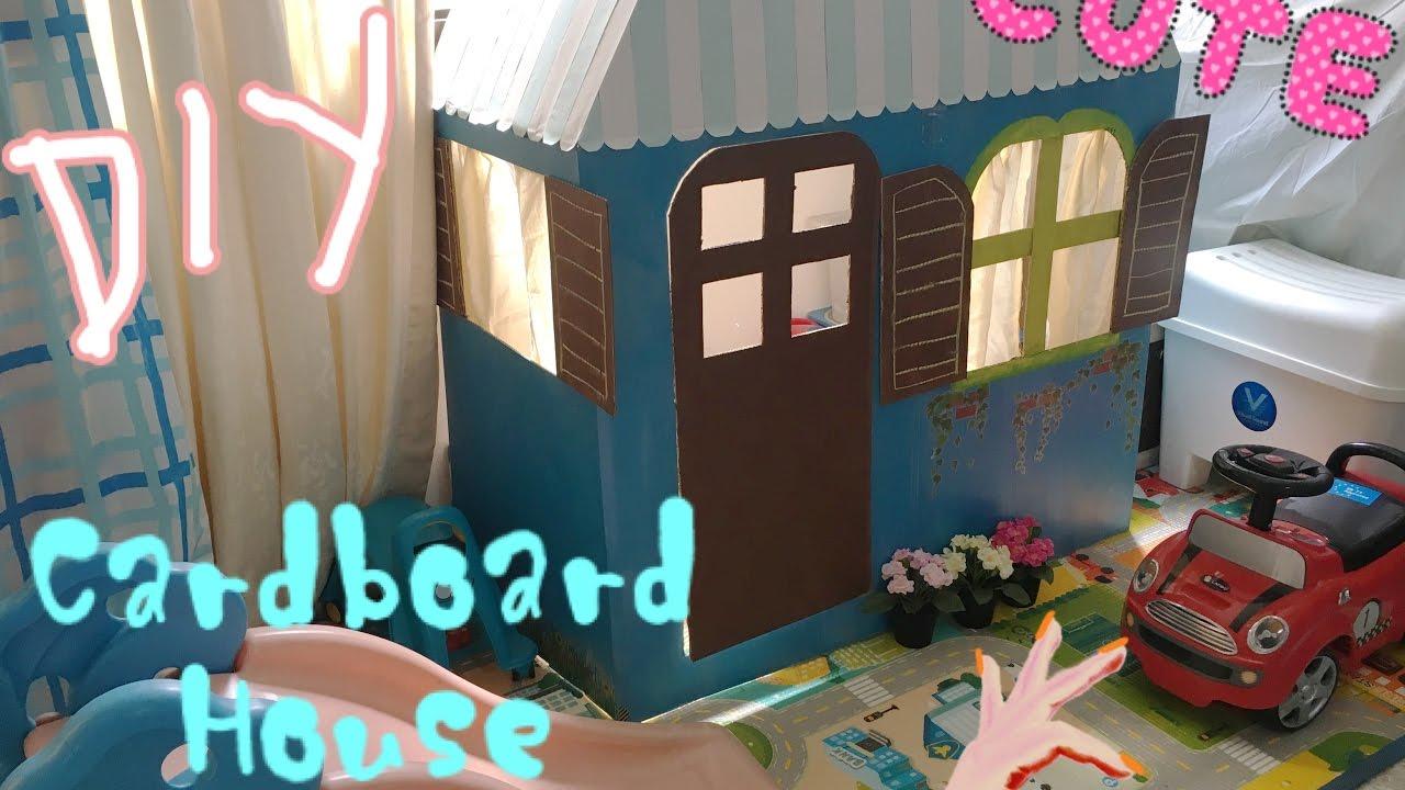 Diy Cardboard House For Kids Youtube