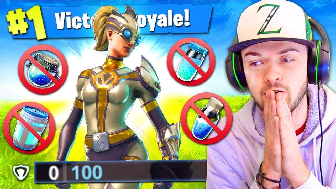WINNING using *NO SHIELDS* in Fortnite: Battle Royale! (HARD)