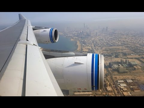 Kuwait Airways A340-300 Colombo to Kuwait Sights and Sounds