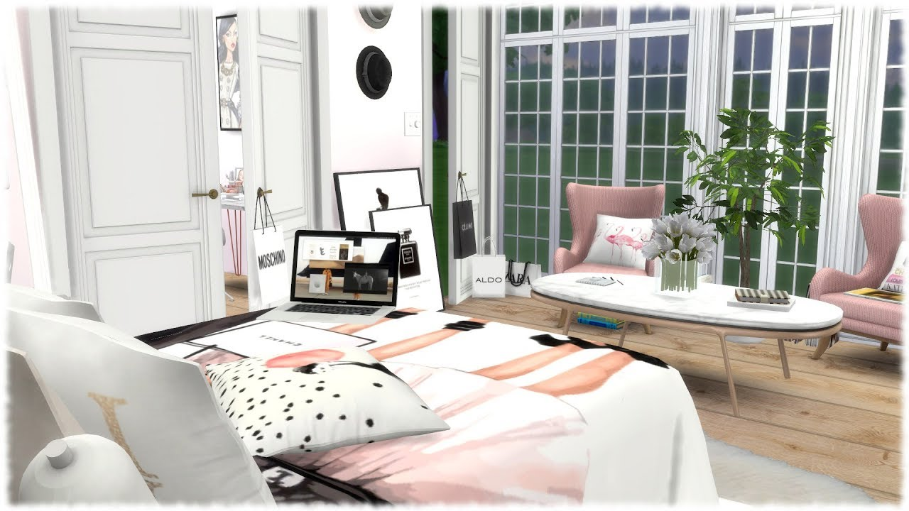 Merveilleux The Sims 4: Speed Build // FASHION LOVERS BEDROOM + CC Links