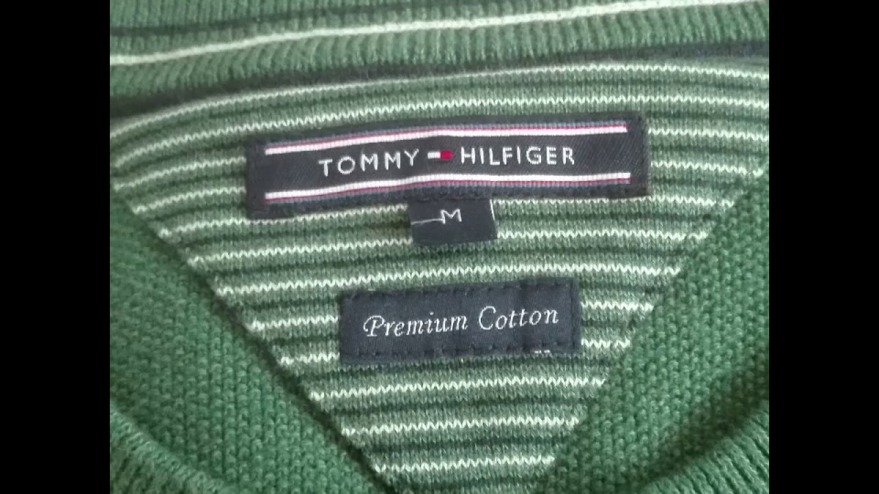 851f999600f Tommy Hilfiger fake versus real logos - YouTube