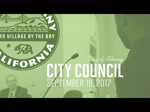 Albany City Council Closed Session Public Comment - September 18, 2017