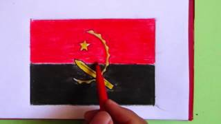 How to draw Angola flag