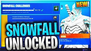 How To Unlock SNOWFALL SKIN In Fortnite Battle Royale