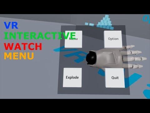 Unreal Engine - [VR] Interactive Watch Menu