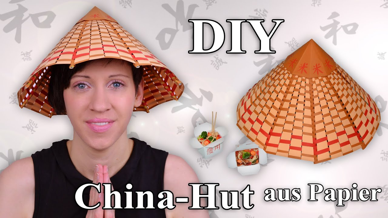 china hut bastelanleitung youtube. Black Bedroom Furniture Sets. Home Design Ideas