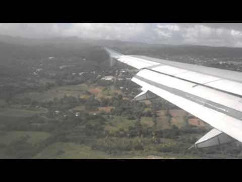 Air Canada A-320 Landing in St. Lucia  HEWANORRA INTL (UVF)