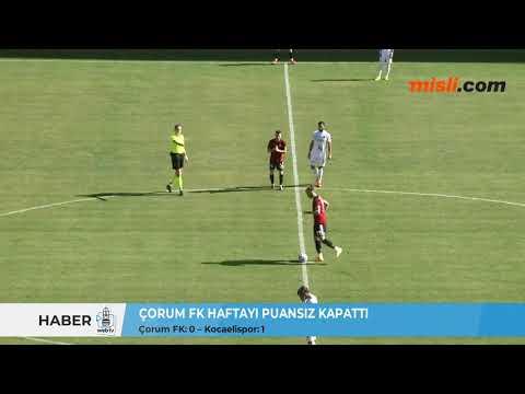 ÇORUM FK HAFTAYI PUANSIZ KAPATTI / Çorum FK: 0 – Kocaelispor: 1 | Çorum Web TV