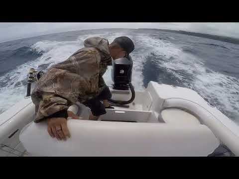 Maui Hawaii offshore action! Trolling for wahoo and mahi-mahi.