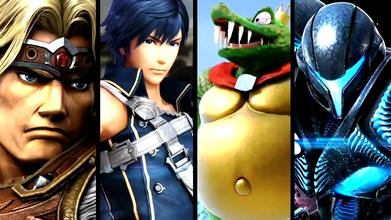 Super Smash Bros Ultimate KING K. ROOL, Simon Belmont, DARK SAMUS & Chrom Trailers (Switch)