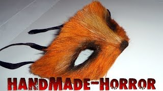 маска лисы на Новый год своими руками