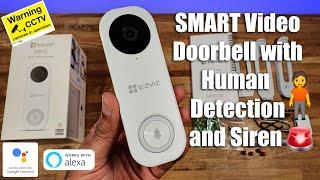 EZVIZ DB1C WiFi 2MP Security Camera 2-Way Audio A.i Detection Video Doorbell video