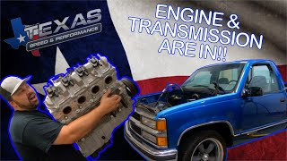 Finally Shop Truck's New Engine And Transmission Are In! Here Is How We Did It!