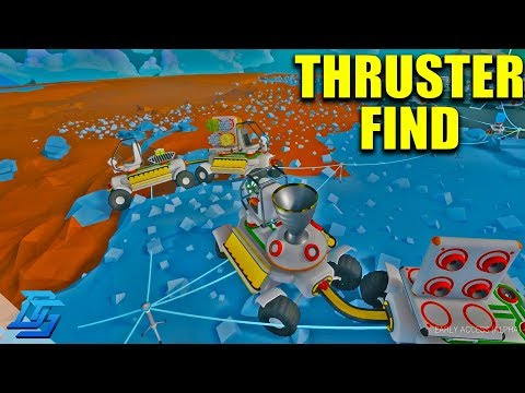 GOING DEEP INTO THE PLANET, THRUSTER FIND, MULTIPLAYER LETS PLAY - Astroneer - Pt.5