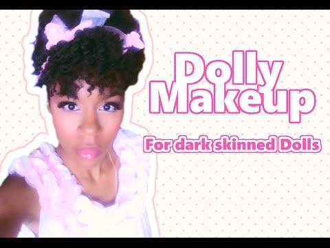 Doll makeup for Dark skinned dolls