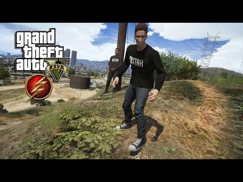 GTA 5 - THE FLASH WALLY WEST AND BARRY ALLEN STOPS DRUG EXCHANGE (GTA 5 PC MODS)